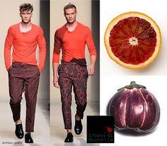Arancia rossa e melanzana