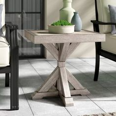 51 Outdoor Side Tables That Will Add Convenience To Your Outdoor Experience Wicker Side Table, Outdoor Side Table, Wooden Side Table, Solid Wood Dining Table, Patio Table, Rustic Side Table, Side Tables, Concrete Dining Table, Wood Buffet