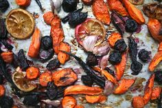 Manu's Kitchen: Lemon Roasted Carrots With A Hint Of Ultra Violet