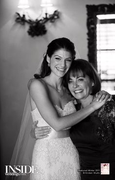 Genevieve Cortese on her Wedding Day with her Mother