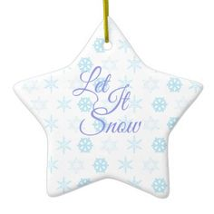 Let it be Snowy Christmas Ceramic Ornament - Xmas ChristmasEve Christmas Eve Christmas merry xmas family kids gifts holidays Santa