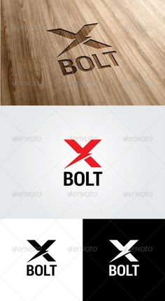 X Bolt - Logo Design Template Vector #logotype Download it here: http://graphicriver.net/item/x-bolt-logo/5573099?s_rank=1249?ref=nesto