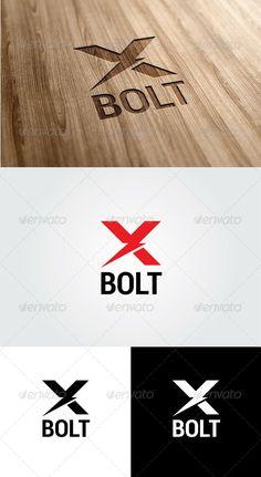 X Bolt Logo — Vector EPS #logo #expert • Available here → https://graphicriver.net/item/x-bolt-logo/5573099?ref=pxcr