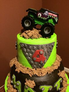 Monster Truck 3rd Birthday cake Fancy cakes Pinterest Monster