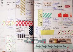 A day planner this colourful would making keeping organized fun. :)