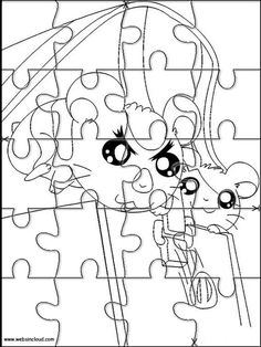 Printable jigsaw puzzles to cut out for kids Hamtaro 26 Coloring Pages