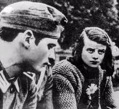 Hans and Sophie Scholl, leaders of the White Rose anti-Nazi student movement at the university of Munich during WWII.  They were executed on 02/18/1943 after being caught throwing anti-Nazi leaflets over the railing in a building at the university of Munich.