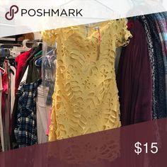 Yellow dress, size medium Dress Dresses Strapless