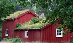 I remember the first time I saw sod as the roof tops on sheds and out buildings in Scandinavia. Then, I thought it was quaint. But they were ahead of their time. Now it's all the green rage in buildings here. Garden Structures, Outdoor Structures, Dan Pearson, Garden Cabins, Wall Gardens, Roof Gardens, Barns Sheds, Potting Sheds, Swedish House