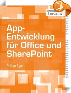 App-Entwicklung für Office und SharePoint    ::  Der einstmals reine Softwarehersteller Microsoft entwickelt sich zum Cloud-Dienstleister, der verschiedenste Lösungen als Software as a Service bereitstellt. Vor allem das App-Modell von Office 365 mit seiner Plattformunabhängigkeit und der Nutzung von Webtechnologien bietet neue Möglichkeiten. Dieser shortcut betrachtet die Entwicklung von Office-Apps (darunter Task-Pane- und Content-Apps) und erklärt, wie mit dem Office-API Apps für Sh...