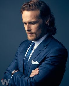 New Portraits of Sam Heughan from The Wrap