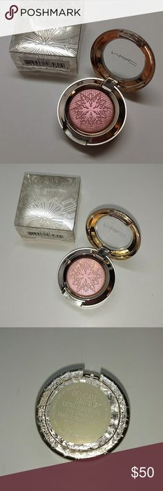 MAC ~ Delicate Drift MAC EXTRA DIMENSION EYE SHADOW color Delicate Drift  a warm coral with a sparkle finish that is limited edition.  liquid-powder Eye Shadow with prismatic reflections in ten shimmering tints. Impact ranges from sheer crystallized light to a highly polished metallic effect. Lasts up to 6 hours. New with box never tested or used.   *100% Authentic *NO trades *Feel free to make offer through the offer feature. Thank you  **Please NO RUDE COMMENTS on price. I am aware of the…