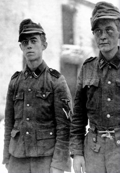 Young men of the SS who fought during the Battle of the Bulge