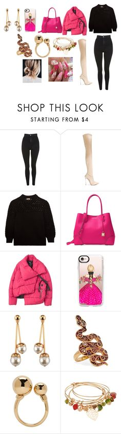 """Sans titre #2205"" by heartss-13 ❤ liked on Polyvore featuring Topshop, Casadei, Bottega Veneta, Michael Kors, MANGO, Casetify, Diego Percossi Papi and Chloé"
