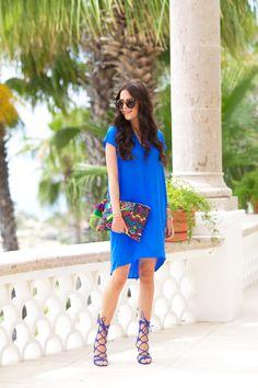 Cobalt blue otte nyc dress...