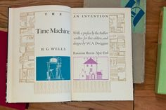 A copy of The Time Machine by H.G. Wells, designed by W.A. Dwiggins.