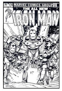 Invincible Iron Man by Bob Layton Marvel Comic Books, Marvel Art, Comic Book Heroes, Comic Books Art, Comic Art, Marvel Comics, Thor Marvel, Avengers, Superhero Coloring