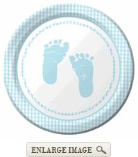 cute plates for baby boy themed shower