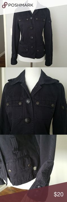 Jcrew navy military style jacket size XS Dark navy military style jacket 100%cotton J. Crew Jackets & Coats