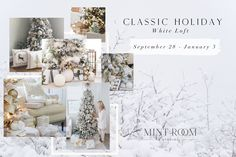 Light and bright, with mixed silver and gold accents, Classic Holiday is filled with twinkling lights, wrapped presents and a spirit that transports you to the seasonal dreams from your childhood.