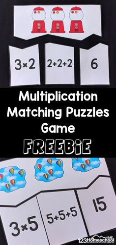 If you are looking for a fun way of teaching multiplication,these multiplication printables are a fun way to introduce your kids to the concept of multiplication. These multiplication activity can be used to introduce your children to the concept of multiplication using repeated addition of equal groups. Simple download the multiplication printables pdf file and great ready make learningmultiplication for 2nd grade, 3rd grade, and 4th grade students FUN! Multiplication Games For Kids, Free Printable Multiplication Worksheets, Repeated Addition Multiplication, Division Math Games, Printable Math Games, Christmas Math Worksheets, Printables, Math For Kids, Math Activities