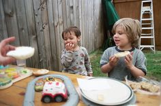 When my kids were small having a family dinner was routine. My kids are older now, but we always make a strong effort to carve out those few minutes to eat.