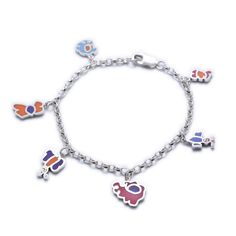 'Love Heart' charm bracelet made from child's drawing. By Silverdoodle, Ireland