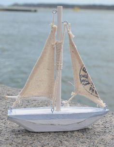 Sailing Boat with Printed Sail - 15 cms high and 13 cms length