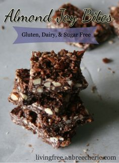 Almond Joy Bites and more allergy-free treats - gluten-free, dairy-free, sugar-free. YUM!