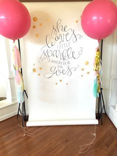 Balloon photo booth from a Girly Glam Photo Booth Birthday Party on Kara's Party Ideas | KarasPartyIdeas.com (14)