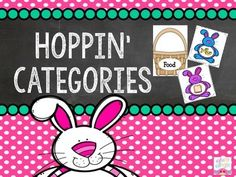Hoppin' Caregories! Spring category sort by Simply Speech