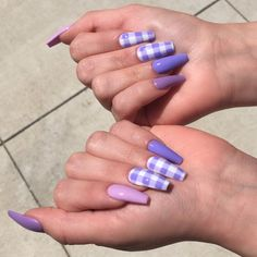 Installation of acrylic or gel nails - My Nails Purple Acrylic Nails, Summer Acrylic Nails, Best Acrylic Nails, Purple Nails, Summer Nails, Brown Nails, Edgy Nails, Grunge Nails, Stylish Nails