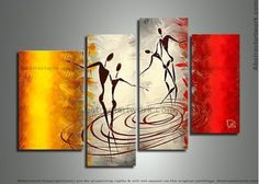 African Contemporary Painting 204 - 42 x 34in