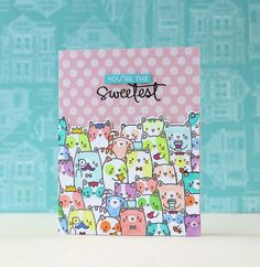 Mama Elephant-The Cat's Meow | you're the sweetest by Laura Bassen