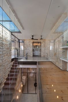 This historic home by Henkin Shavit Architecture is reimagined through a modern lens. - Sarah Akkoush's A Stone House in Israel with a Surprisingly Modern Interior design collection on Dwell. Architecture Design, Old Stone Houses, Historic Homes, Home Remodeling, Interior And Exterior, New Homes, House Design, Wood Bridge, Interior Photo