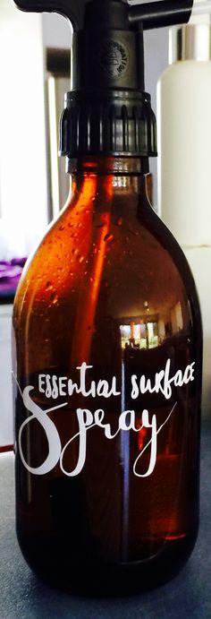 Essential oil spray bottle label
