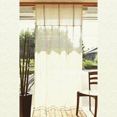 リノテキスタイルです。 透け感の違うリネンを切り返した軽やかなスタイルカーテン。 #リノテキスタイル #リネンカーテン #リネンレース #切り返し #リネンレースカーテン #スタイルカーテン #フレンチリネン #透け感が違う #タック #iichi出品 Curtains, Instagram Posts, Home Decor, Blinds, Decoration Home, Room Decor, Interior Design, Draping, Home Interiors