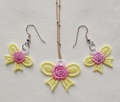 FSL Earrings and Pendant 9 - 4x4 | What's New | Machine Embroidery Designs | SWAKembroidery.com Ace Points Embroidery