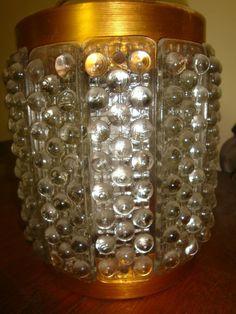 Lampara De Diseño Retro, Cristal De Burbujas Y Cromo Espejo. - $ 399,99 en MercadoLibre