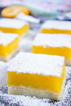 Easy Lemon Bars (5 Ingredients!)