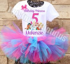 Disney Princess Palace Pets Birthday Tutu Outfit | Disney Princess Palace Pets Birthday Party Ideas | Disney Princess Birthday Party Ideas | Disney Princesses Birthday Party Outfit | Disney Princess Birthday Outfit | Disney Princesses Birthday Shirt | Dis
