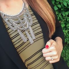 Chain Armor Tassel Necklace | via Sincerely Jenna Marie