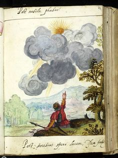 "found it! ""Post nubila phoebus"" [Sunshine after cloud] -- an optimistic emblem and a nice drop of watercolour, to boot! This in the album amicorum of Voit von Wendelstein c.1602. Weimar, Herzogin Anna Amalia Bibliothek and via their wonderful website"
