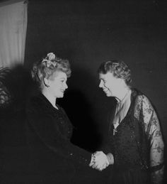 Lucille Ball and Eleanor Roosevelt