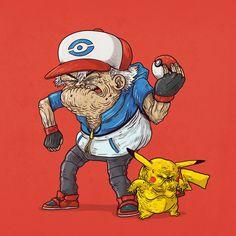 Old Dash & Old Pikachu