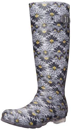 ca5c7c6902b462 Women's Daisies Rain Boot - Black - CY11N18BIM9 - Women's Shoes, Boots, Mid-