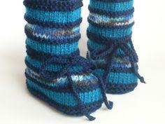 Strick- & Häkelschuhe - Babyschuhe Kurzstiefel gestrickt - ein Designerstück…