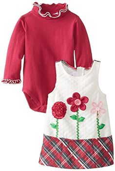 Bonnie Baby BabyGirls Newborn Quilted Flower Jumper Fuchsia 36 Months * Find out more about the great product at the image link.