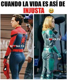 Funny Spanish Memes, Spanish Humor, Funny Memes, Marvel 3, Marvel Memes, Tom Holland, Latinas Quotes, All Jokes, Mexican Humor