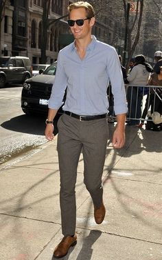 a tall drink of water on the streets of NYC after appearing on Live with Kelly and Michael..